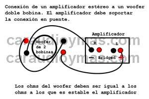 Como se conecta un subwoofer de doble bobina en serie