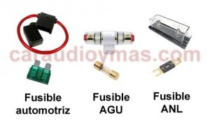 Instalar un amplificador. Tipos de fusibles utilizados.